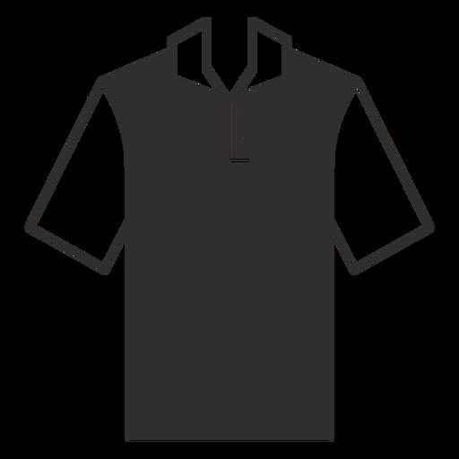 Henley polo t shirt flat icon