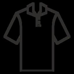 Henley polo t shirt icono de trazo