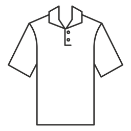 Henley polo t shirt stroke icon