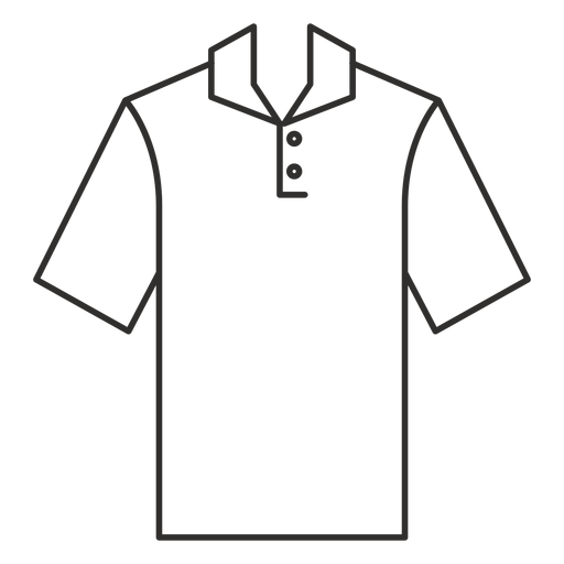 Henley polo t shirt stroke icon Transparent PNG