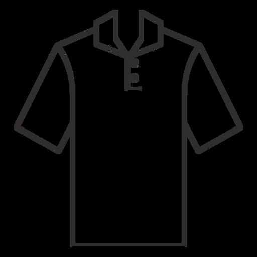 Henley polo t shirt stroke icon