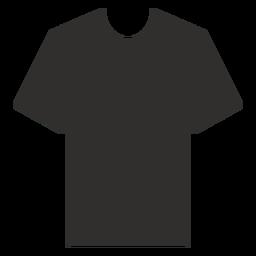 Icono plano camiseta henley