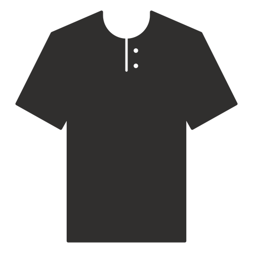 Henley t shirt flat icon