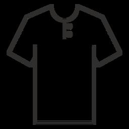 Henley camiseta icono de trazo