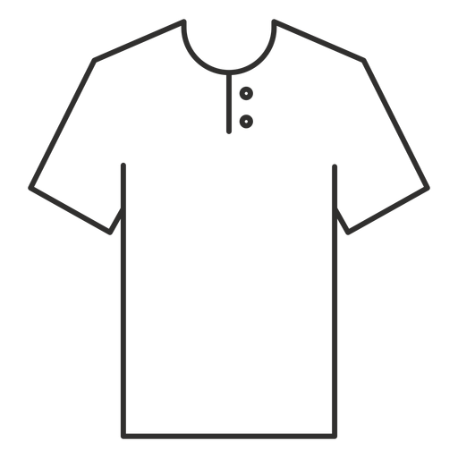 Henley t shirt stroke icon Transparent PNG