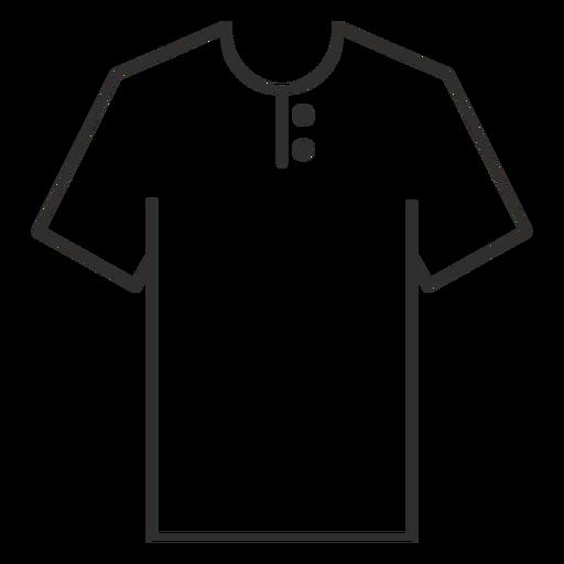 Henley t shirt stroke icon