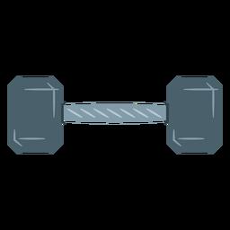Icono de mancuernas hexagonal