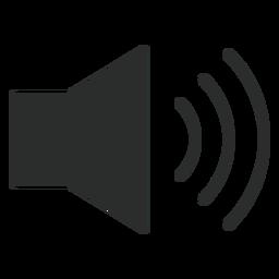 Hohe Lautstärke flach Symbol
