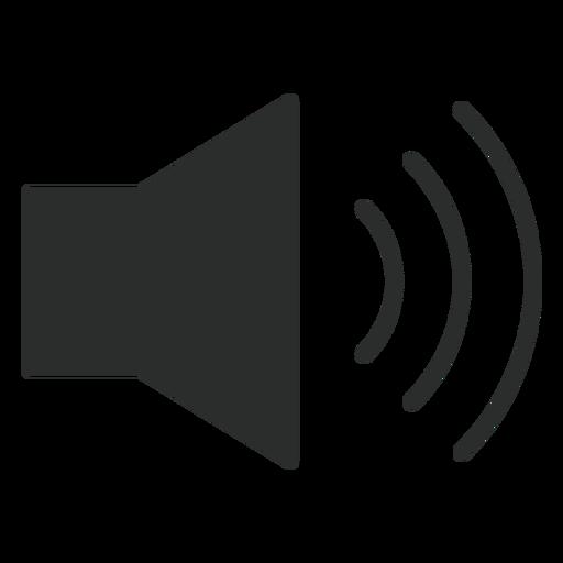 Ícone plana de alto volume Transparent PNG