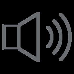 Icono de trazo de volumen alto