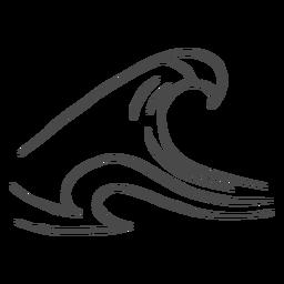 Hohe Welle von Hand gezeichnet