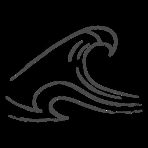 Dibujado a mano de alta ola Transparent PNG