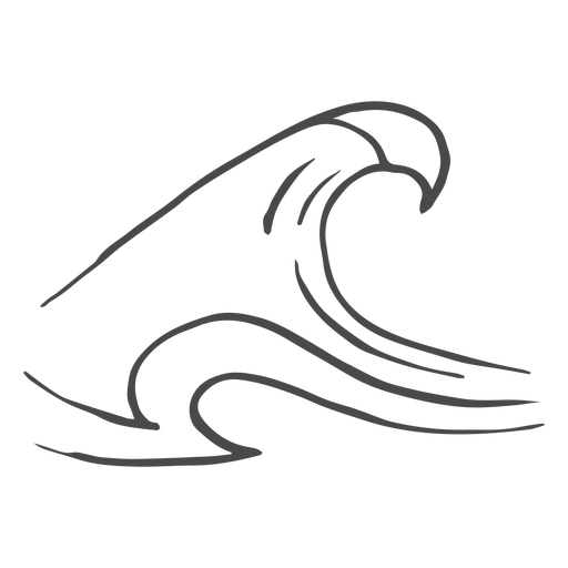 High wave hand drawn Transparent PNG