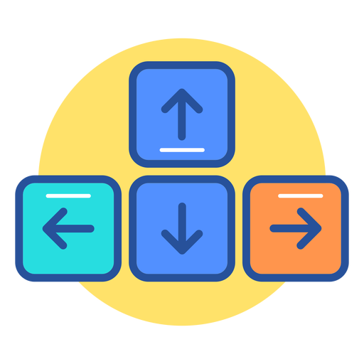 Ícone de teclas de seta do teclado Transparent PNG