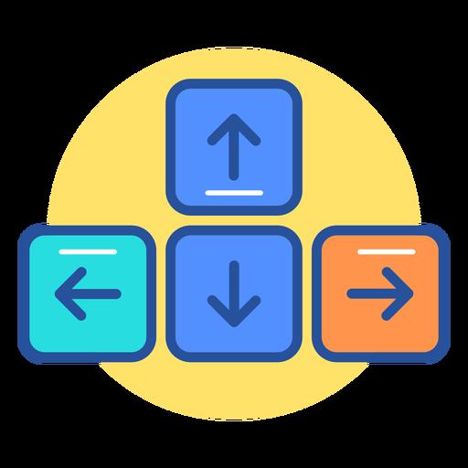 Icono de las teclas de flecha del teclado Transparent PNG