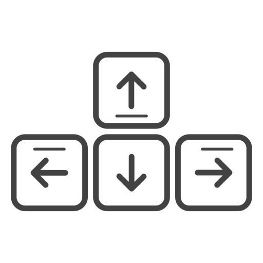 Ícone de traçado de teclas de seta do teclado Transparent PNG