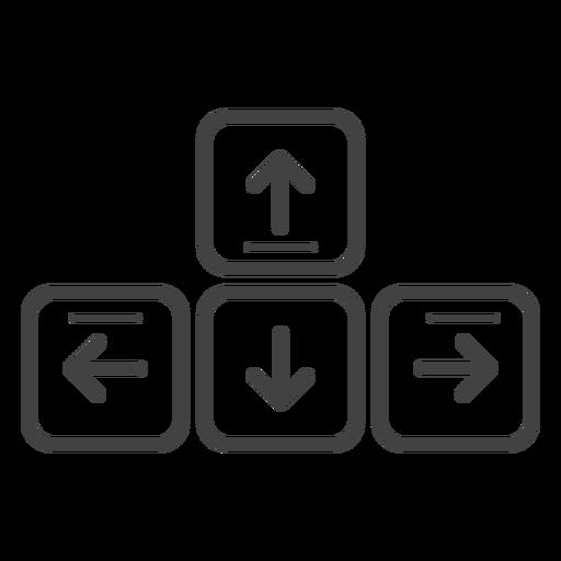 Teclas de flecha del teclado icono de trazo Transparent PNG