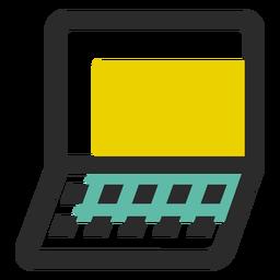 Icono de trazo de color portátil