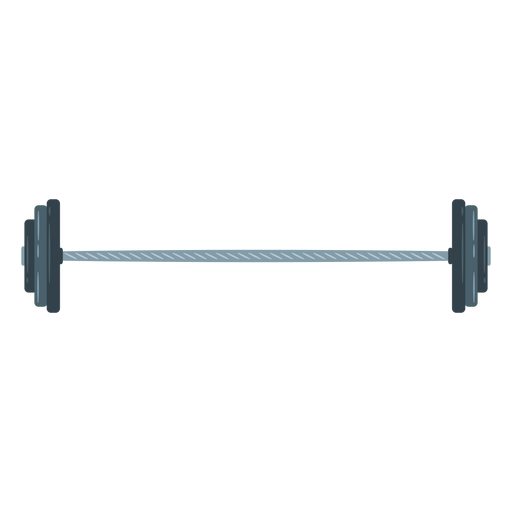 Loaded barbell icon Transparent PNG