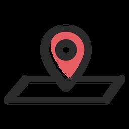 Pin de ubicación icono de trazo de color