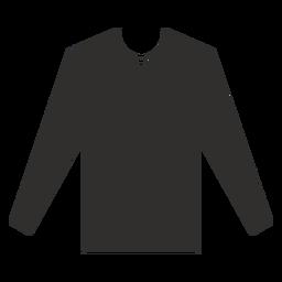 Icono de camiseta de manga larga plana