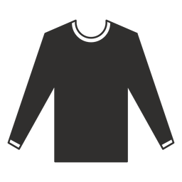 Long sleeve t shirt flat icon