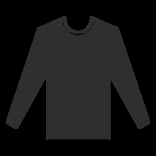 Ícone liso de camiseta de manga comprida