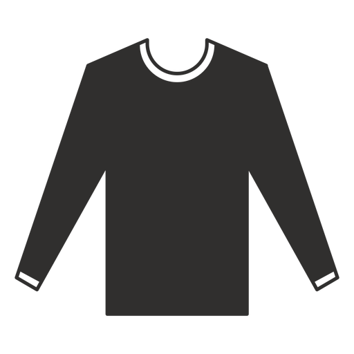 Long sleeve t shirt flat icon Transparent PNG