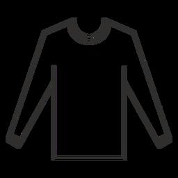 Ícone de traçado de camiseta de manga comprida