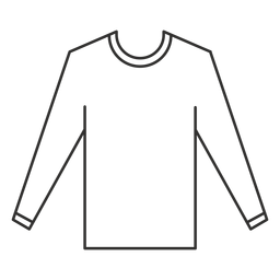 Long sleeve t shirt stroke icon