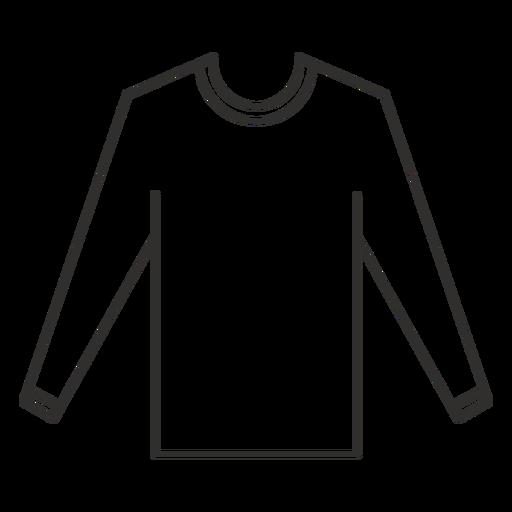 Ícone de traço de camiseta de manga comprida
