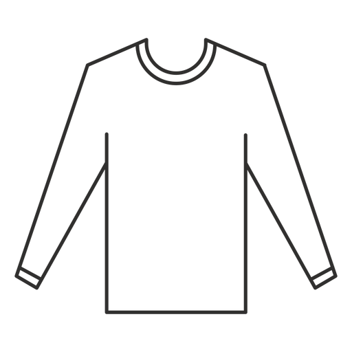 Long sleeve t shirt stroke icon Transparent PNG