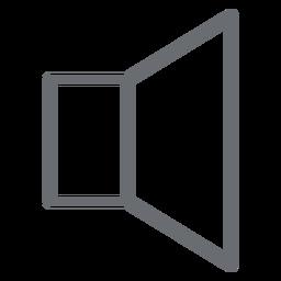 Icono de trazo de volumen bajo