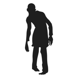 Silueta de hombre zombie