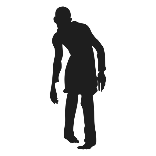 Male zombie silhouette Transparent PNG