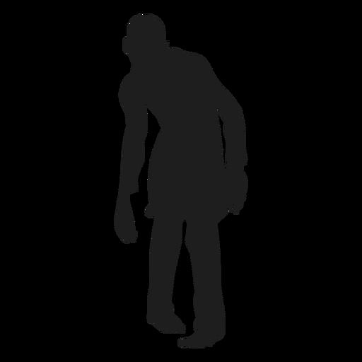 Silueta de zombie masculino