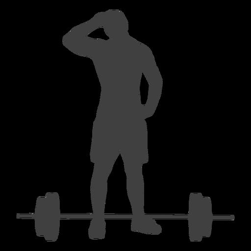 Silhueta de homem e barra Transparent PNG