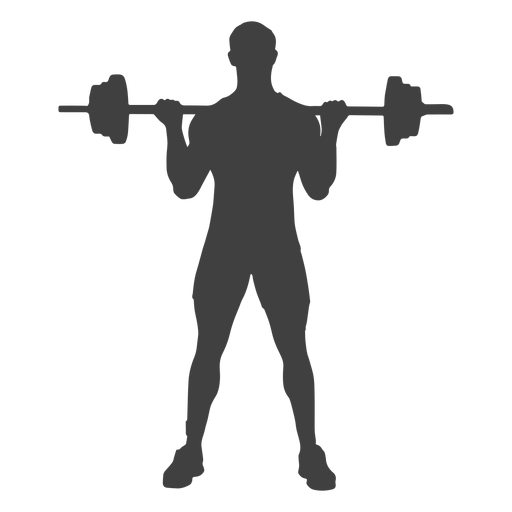 Man barbell biceps curl silhouette Transparent PNG