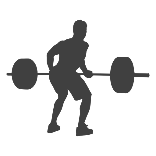 Man bent over row silhouette Transparent PNG
