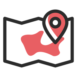 Map location colored stroke icon
