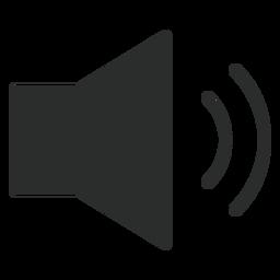 Flaches Symbol mit mittlerer Lautstärke