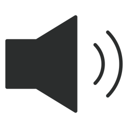 Ícone plana de volume médio