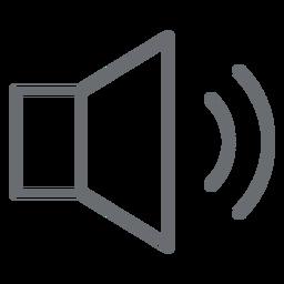 Icono de trazo de volumen medio