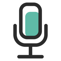 Ícone de traço colorido de microfone