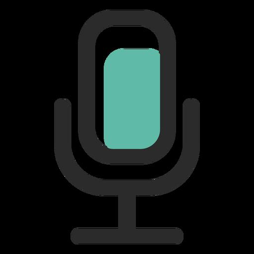 Ícone de traço colorido de microfone Transparent PNG