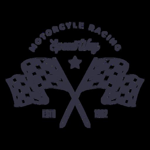 Logotipo de bandeira de motociclismo Transparent PNG