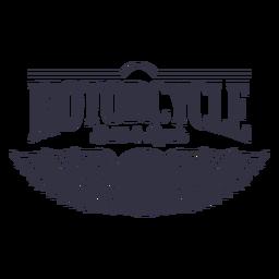 Logotipo de serviço de reparação de motocicleta