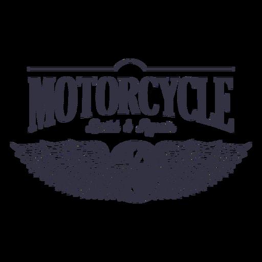 Logotipo del servicio de reparación de motocicletas. Transparent PNG