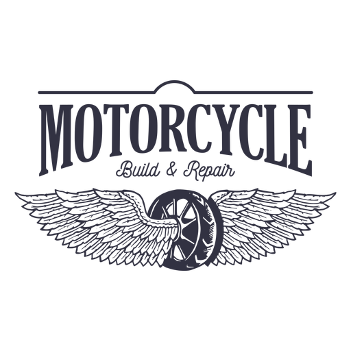 Motorcycle repair service logo Transparent PNG