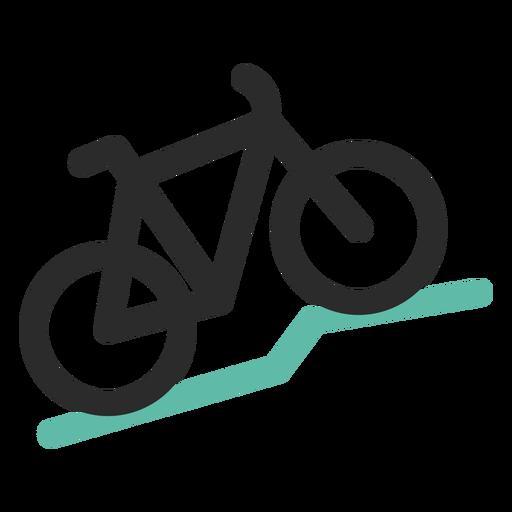 Icono de trazo de color de bicicleta de monta?a